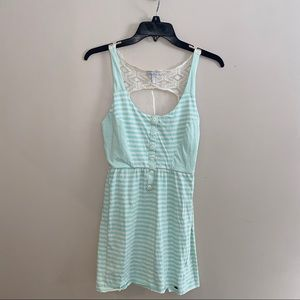 O'Neil Striped Burton Dress w/ Open Lace-back